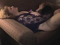 A mature blonde in lingerie gets licked out hardcore