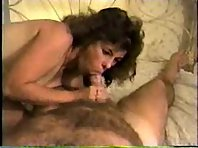 Busty milf tastes a delicious looking white cock