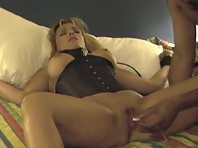 A good looking blonde prepared with toys for BBC