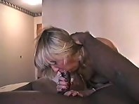 Mature blonde wife being bred and taking black seed deep in her cunt