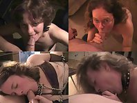 A mature slave wife gets recorder while submissive