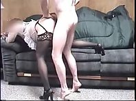 A sexy looking wife is getting rammed from behind