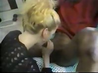 A blonde wife gets stuffed by a throbbing BBC