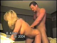 Bleached blonde getting her small ass plowed